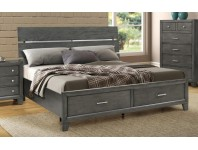 IBC8130G-Brushed Grey Storage (King Bed Only)